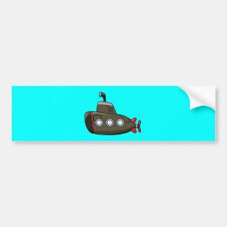 Submarino fresco del dibujo animado pegatina para auto