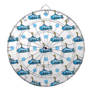 Submarino lindo del dibujo animado, lunares de los
