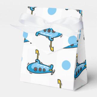 Submarino lindo del dibujo animado, lunares de los caja para regalos