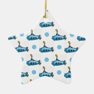 Submarino lindo del dibujo animado, lunares de los adorno de cerámica en forma de estrella