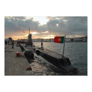 """Submarino portugués de la marina de guerra invitación 5"""" x 7"""""""