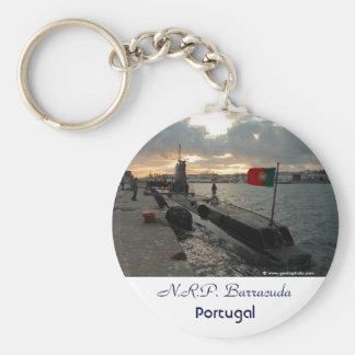 Submarino portugués de la marina de guerra llavero redondo tipo pin