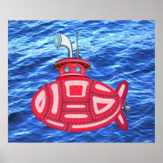 Submarino rojo impresiones