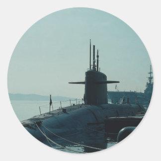 Submarino SSB del misil balístico de USS Ulysses Pegatina Redonda