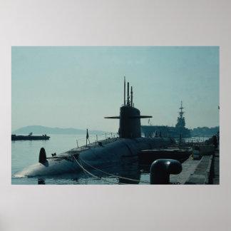 Submarino SSB del misil balístico de USS Ulysses Póster