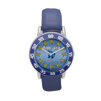 Submarinos amarillos en el azul (personalizado) reloj