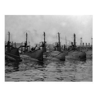 Submarinos listos para Action, 1911 Postales