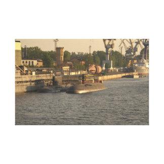 Submarinos nucleares rusos impresión en lona