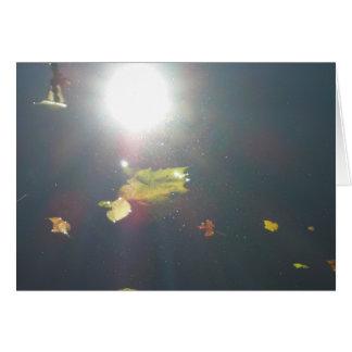 Submerged Leaf Card