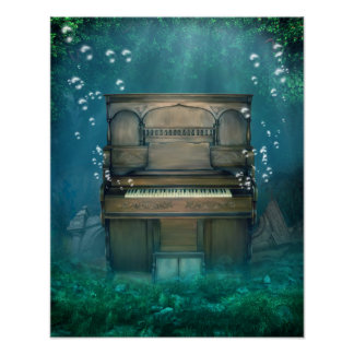 Submerged Piano Poster