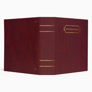 submissive resumé binder - faux red cloth