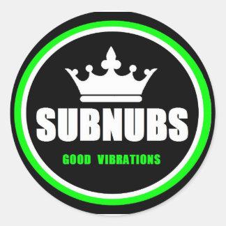 SubNubs_GoodVibrations Classic Round Sticker