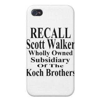 Subordinado corporativo del caminante de Scott del iPhone 4 Cárcasas