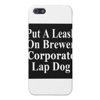 Subordinado corporativo malvado del cervecero de e iPhone 5 fundas