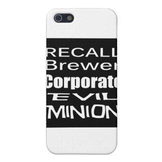 Subordinado corporativo malvado del cervecero de e iPhone 5 protector
