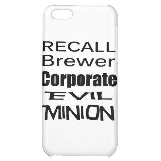 Subordinado corporativo malvado del cervecero de e