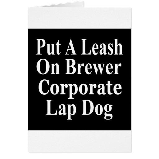 Subordinado corporativo malvado del cervecero de e tarjeton