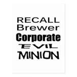 Subordinado corporativo malvado del cervecero de e tarjeta postal