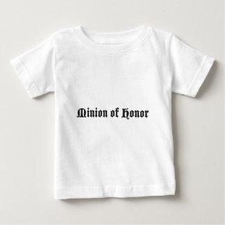 Subordinado del honor playera de bebé