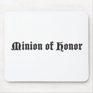 Subordinado del honor tapete de ratón