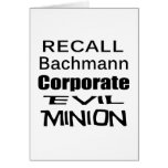 Subordinado malvado corporativo de Micaela Bachman Tarjetón