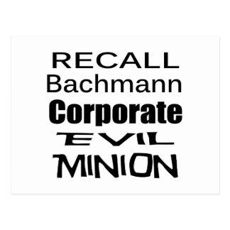 Subordinado malvado corporativo de Micaela Tarjeta Postal