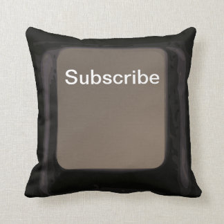 Subscribe Key / Button Dark Pillow  / Cushion