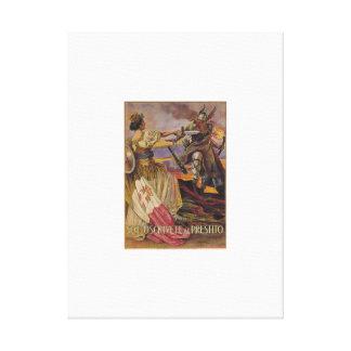Subscribe Propaganda Poster Canvas Print
