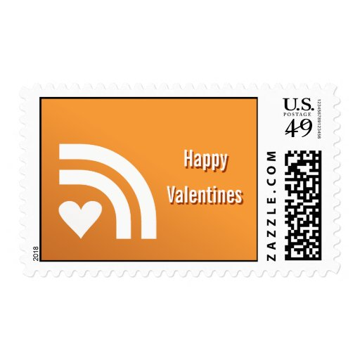 Subscribed To Your Valentines Heart Postage Stamp
