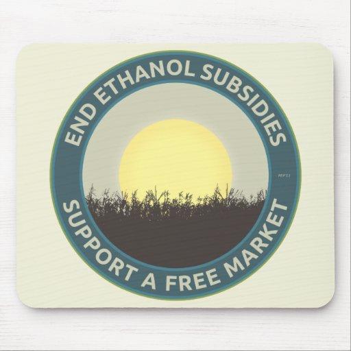 Subsidios del etanol del extremo alfombrilla de raton