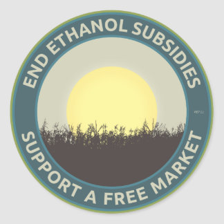 Subsidios del etanol del extremo etiquetas redondas
