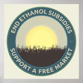 Subsidios del etanol del extremo póster