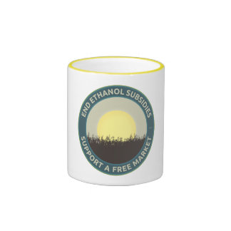 Subsidios del etanol del extremo taza de café