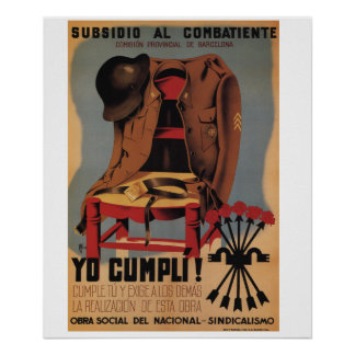 Subsidy to the combatant_Propaganda Poster
