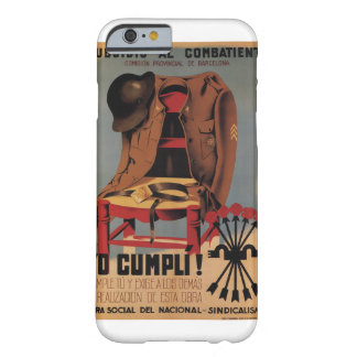 Subsidy to the combatant_Propaganda Poster Barely There iPhone 6 Case