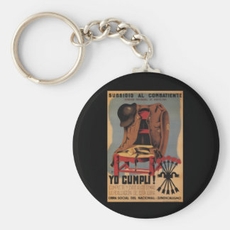 Subsidy to the combatant_Propaganda Poster Basic Round Button Keychain