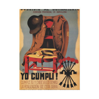 Subsidy to the combatant_Propaganda Poster Canvas Print