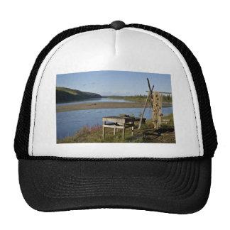 Subsistence fish camp on the Koyukuk River Trucker Hat