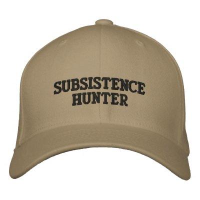 SUBSISTENCEHUNTER EMBROIDERED BASEBALL CAP