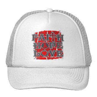 Substance Abuse Faith Hope Love Mesh Hats