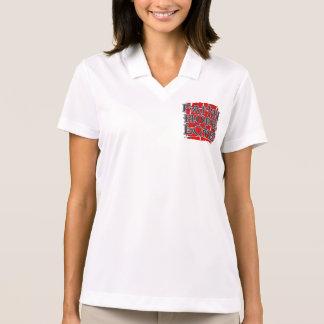 Substance Abuse Faith Hope Love Polo T-shirts