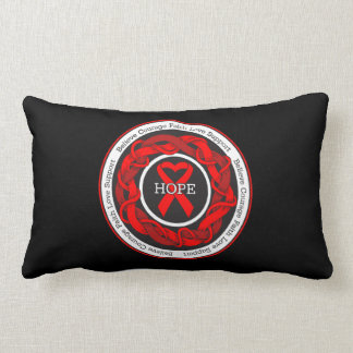 Substance Abuse Hope Intertwined Ribbon Throw Pillow
