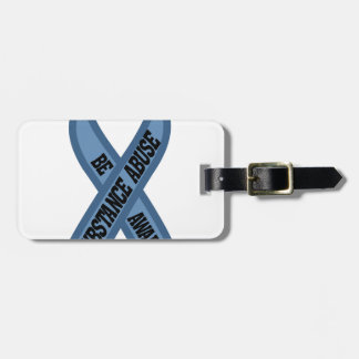 Substance Abuse Luggage Tag