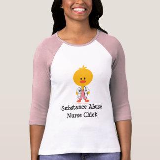 Substance Abuse Nurse Chick Raglan Tee