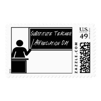 Substitute Teacher Appreciation Day Postage