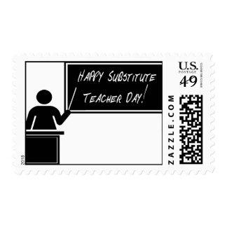 Substitute Teacher Appreciation Day Postage Stamp