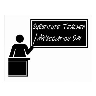 Substitute Teacher Appreciation Day Postcard
