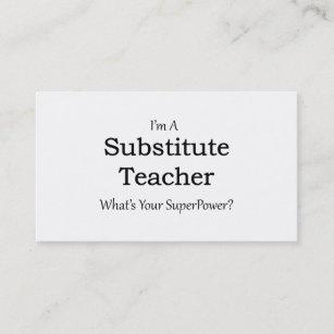 Substitute teacher business cards zazzle substitute teacher business card colourmoves