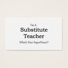 Substitute teacher business cards templates zazzle substitute substitute teacher business cards templates zazzle teacher business card template wajeb