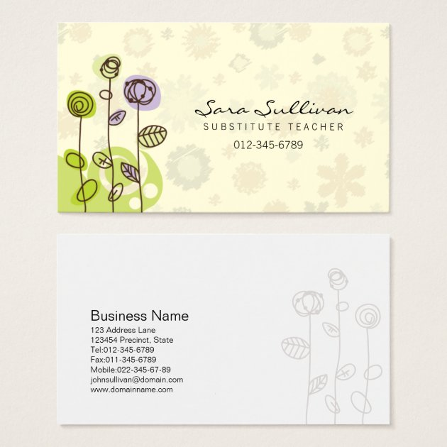 Substitute Teacher Business Card Doodle Flowers  Zazzle. Sample Claims Adjuster Resumes Template. Convert Spreadsheet To Database. Graduation Invitations Templates Free. Rn Resume Template. Reception Seating Chart Maker Template. Credit Application Form For Business. Instagram Post Template Psd. Resume Builder Login